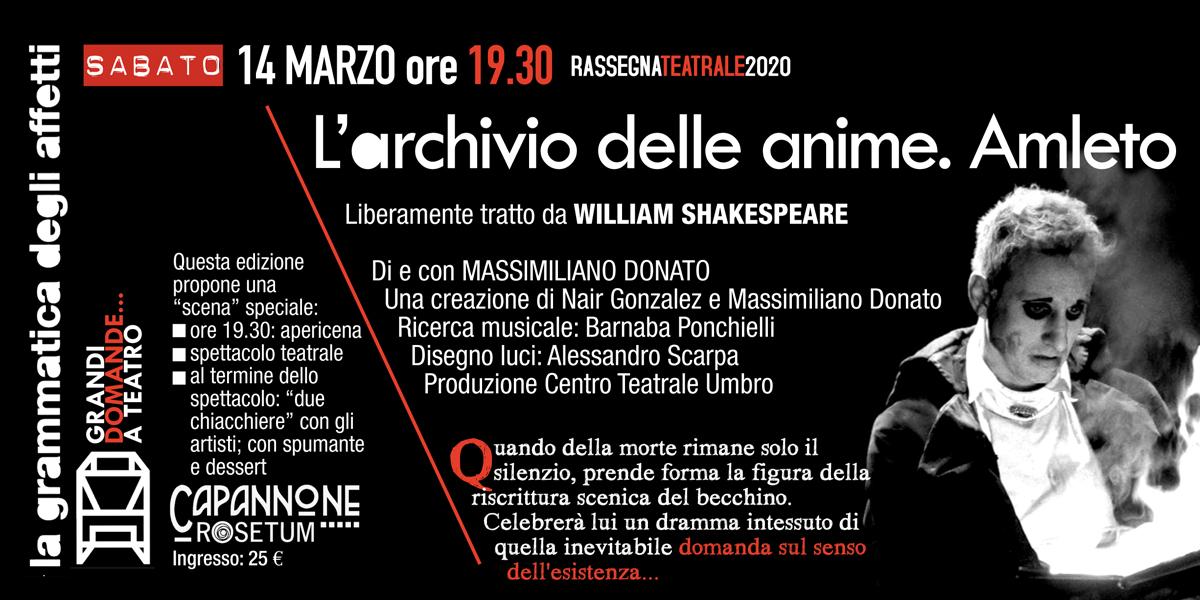 14 marzo 2020 l'archivio delle anime amleto grammatica degli affetti rosetum