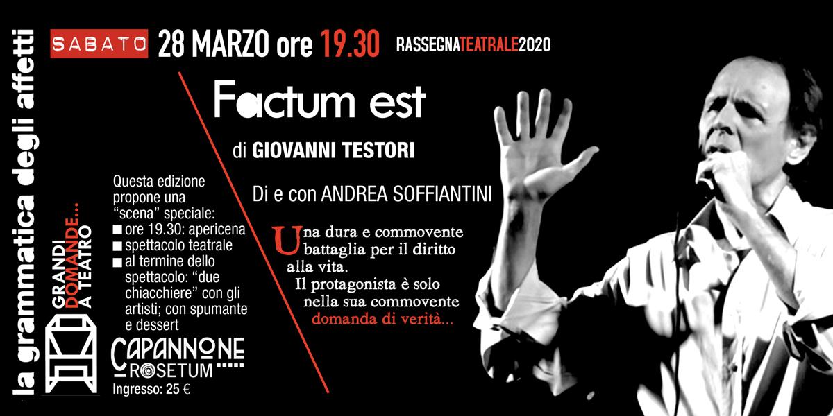 28 marzo 2020 factum est grammatica degli affetti rosetum