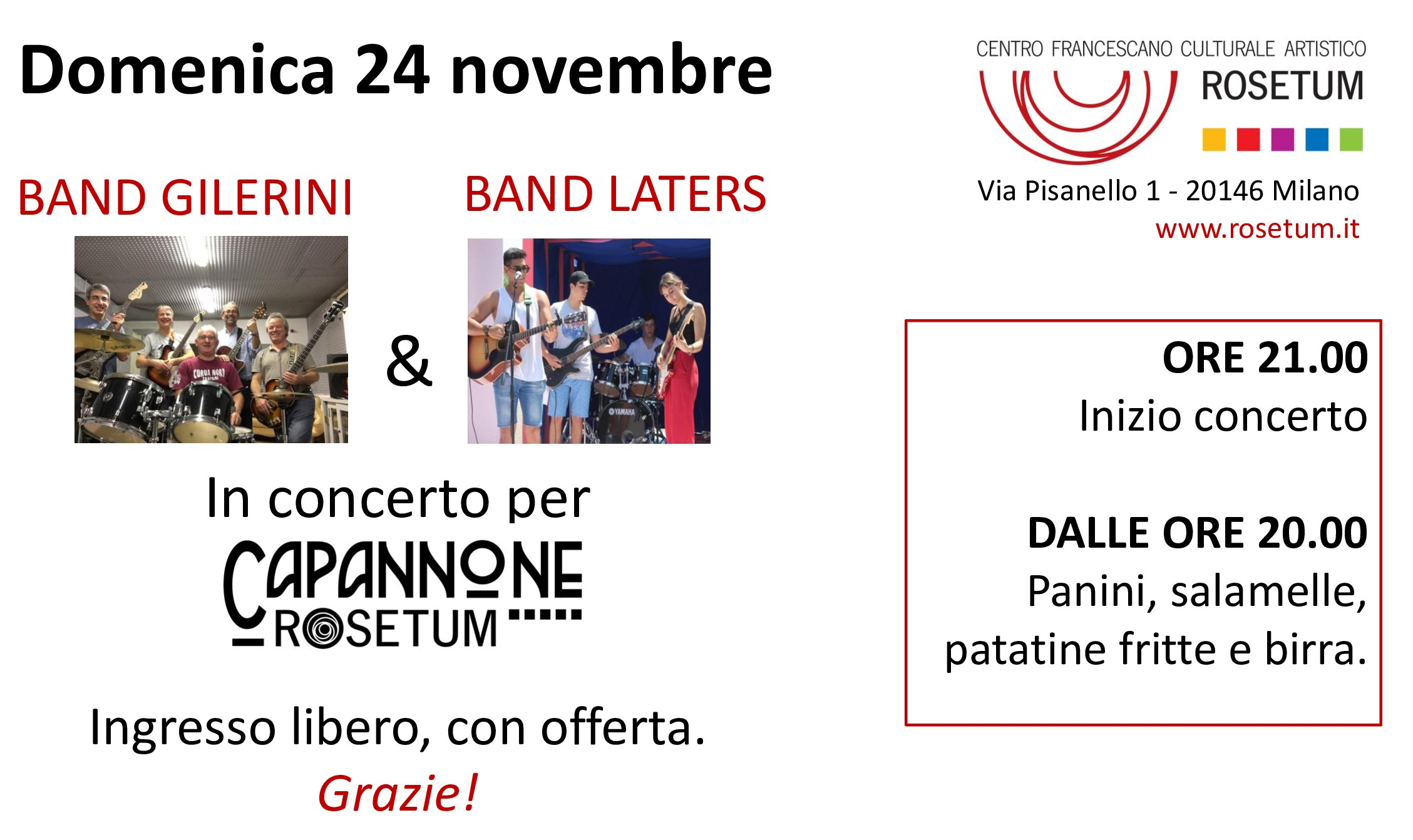 Band Gilerini e band laters per Capannone Rosetum