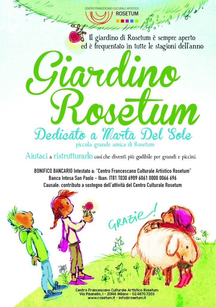 Giardino Rosetum dedicato a Marta del Sole