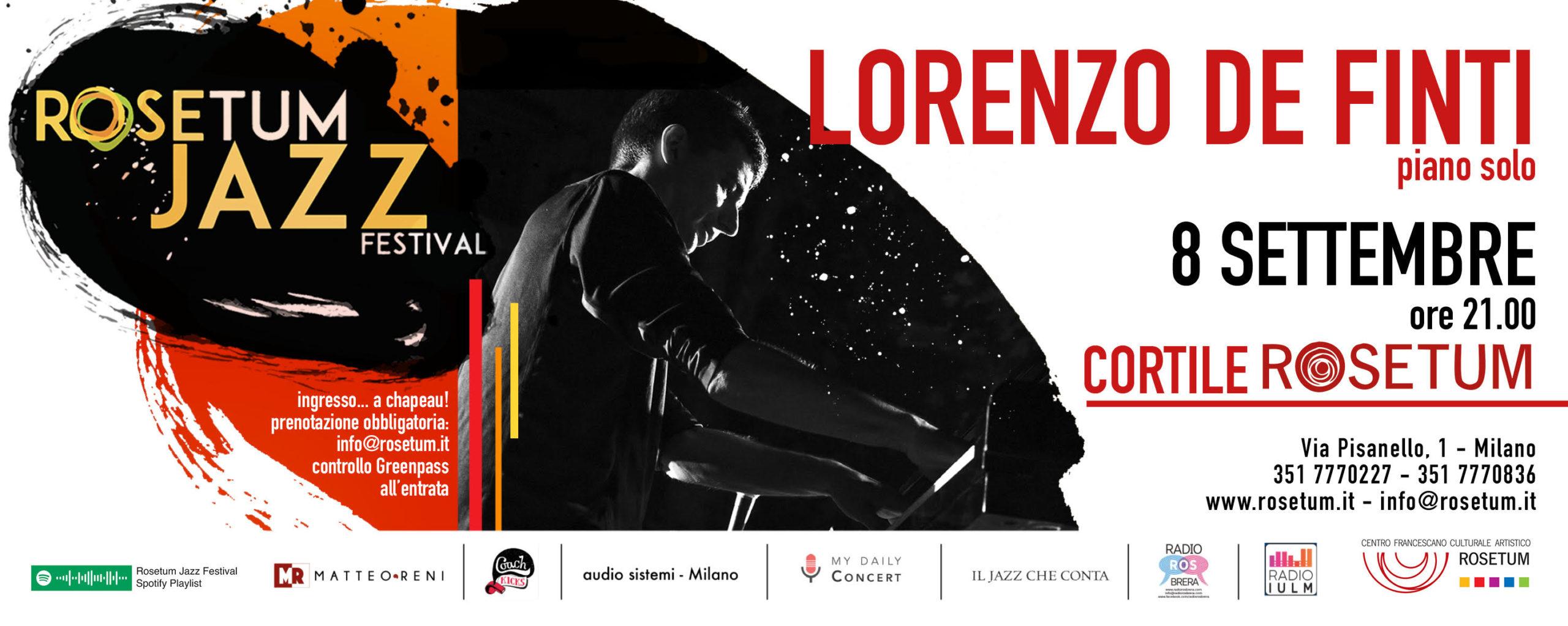 Lorenzo De Finti piano solo rosetum jazz festival 8 settembre 2021